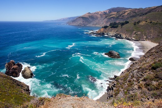 Stock Photo: 4434-1086 USA, California Coastline