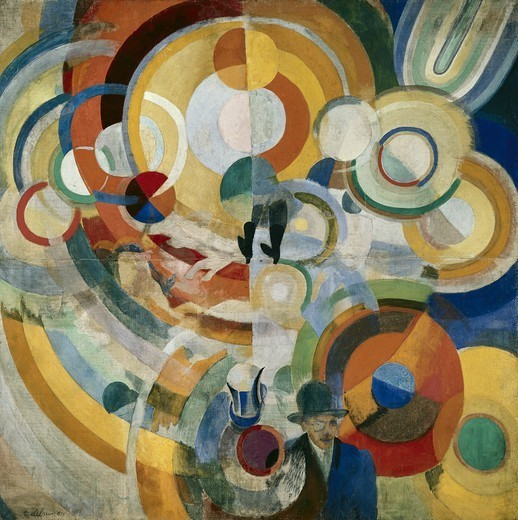Stock Photo: 4435-1731 DELAUNAY, Robert (1885-1941). Carousel with Pigs. 1922. Orphism. Oil on canvas. FRANCE. ëLE-DE-FRANCE. Paris. Centre national d'art et de culture Georges Pompidou (Georges Pompidou National Art and Culture Centre).