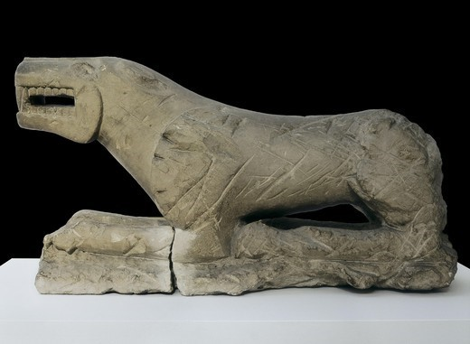 Stock Photo: 4435-6301 The Lion of Baena or The Lioness of Baena. 6th c. - 5th c. BC. Iberian art. Sculpture on rock. SPAIN. ANDALUSIA. Cordoba. Archaeological Museum of Cordoba. Proc: SPAIN. ANDALUSIA. CORDOBA. Baena.