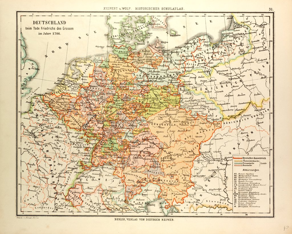 Stock Photo: 4443-14097 MAP OF GERMANY IN 1786
