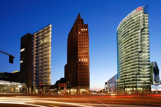 Stock Photo: 4449-22198 Berlin, Potsdamer Platz, Sony Center DB tower