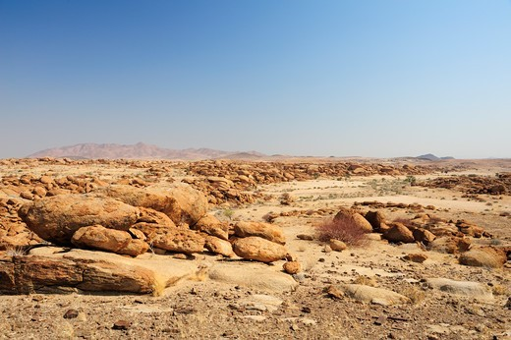 Stone desert, Namib Naukluft National Park, Namib desert, Namib, Namibia : Stock Photo