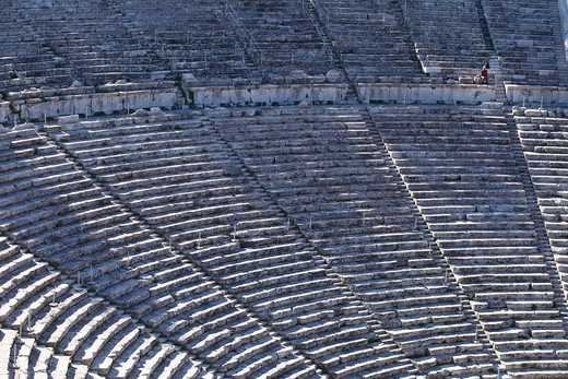 Amphitheatre of Epidaurus, Peloponnes, Greece : Stock Photo