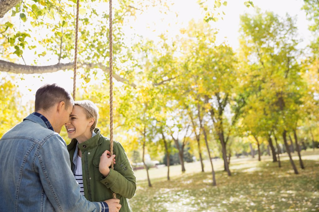 Stock Photo: 4451R-1369 Couple spending quality time outdoors