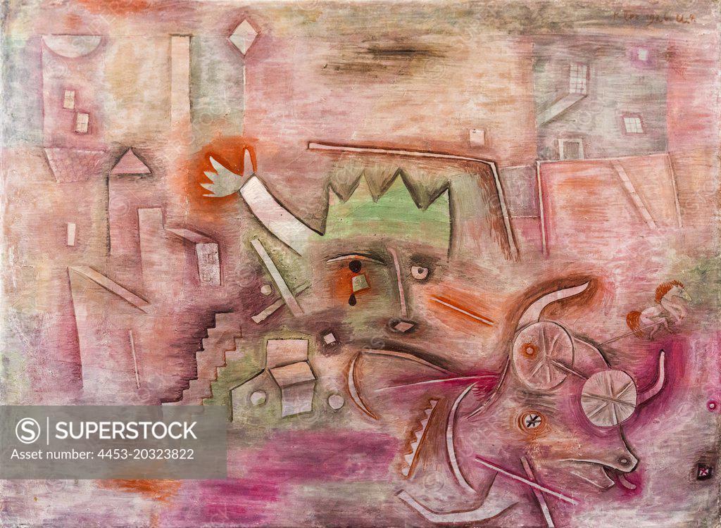 """Stock Photo: 4453-20323822 """"Animal Terror 1926 Tempera on canvas Paul Klee, Swiss, 1879 - 1940"""""""