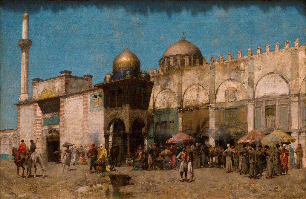 Stock Photo: 4453-1379 Alberto Pasini; Italian; 1826-1899; A Mosque; 1886; Oil on canvas.