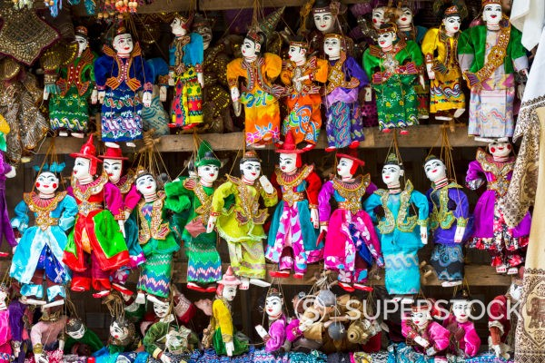Stock Photo: 4486R-22076809 Puppets For Sale In Myanmar