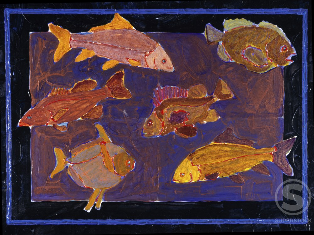 Stock Photo: 451-207 Golden Guppies 
