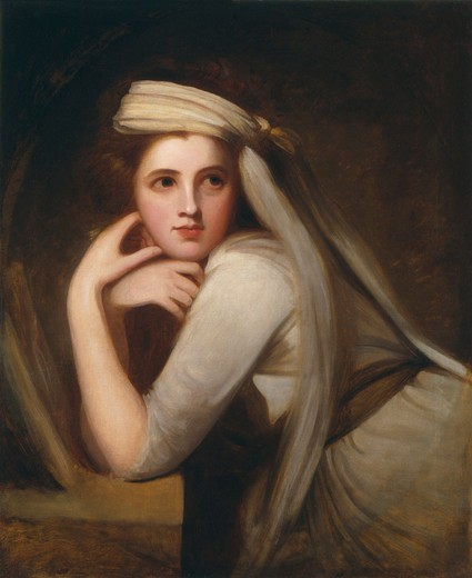 Stock Photo: 454-145816 George Romney circa 1785 painting oil on canvas National Portrait Gallery, London
