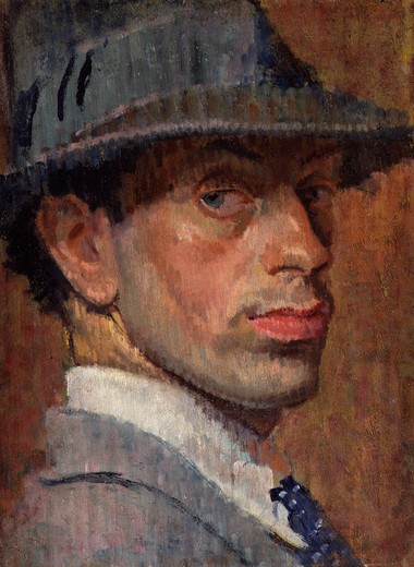 Stock Photo: 454-145843 Isaac Rosenberg 1915 painting oil on panel National Portrait Gallery, London
