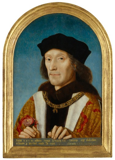 Unknown artist 1505 painting oil on panel, arched top National Portrait Gallery, London : Stock Photo