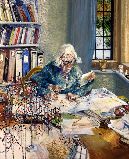 Maggi Hambling 1985 painting oil on canvas National Portrait Gallery, London : Stock Photo