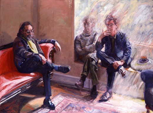 Peter Edwards 1985 painting oil on canvas National Portrait Gallery, London : Stock Photo