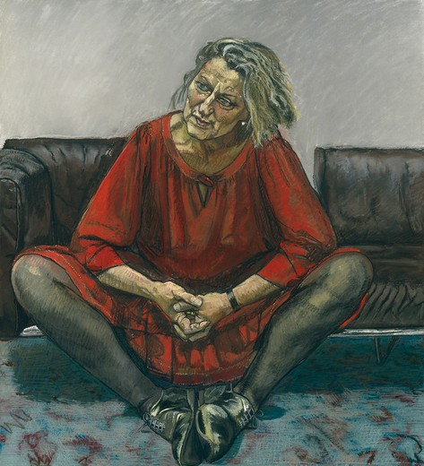Stock Photo: 454-145902 Paula Rego 1995 drawing pastel on paper laid on aluminium National Portrait Gallery, London