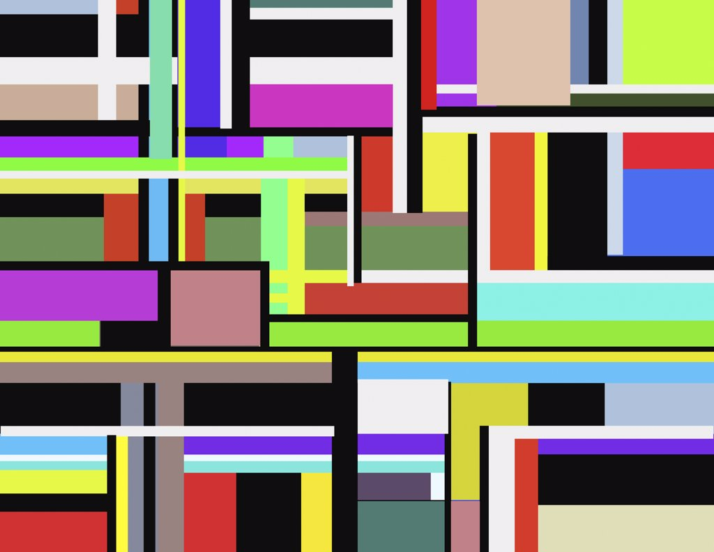 Stock Photo: 456-1675 Structure A, 2006, Diana Ong (b.1940/Chinese-American) Computer Graphics