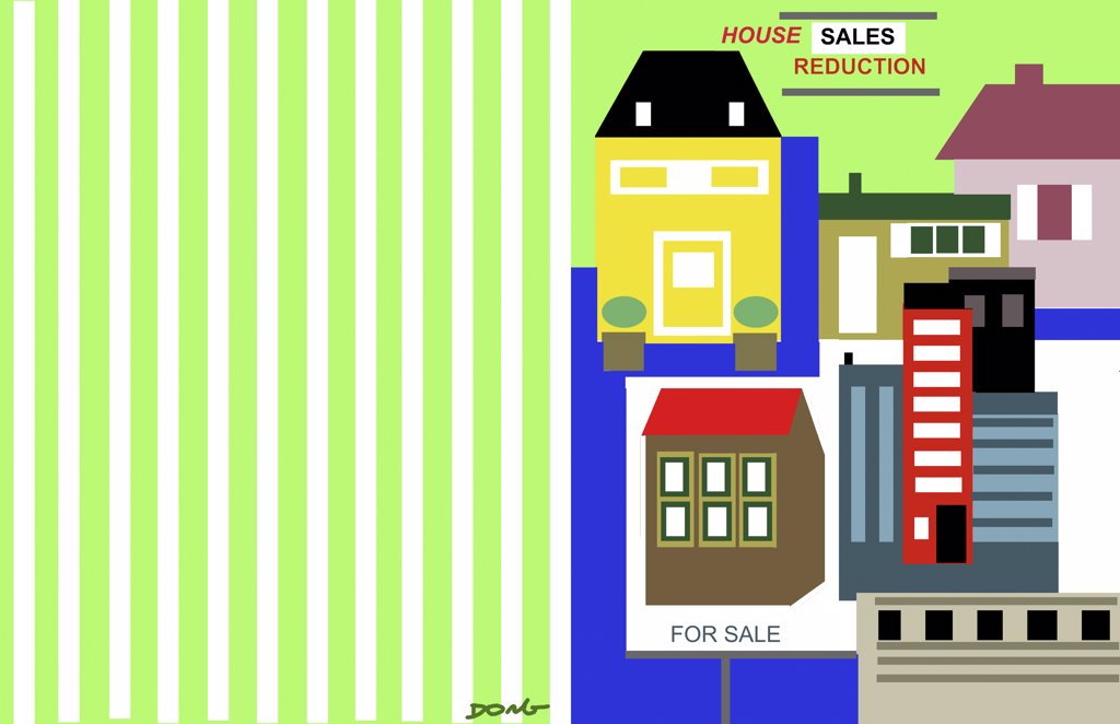 Stock Photo: 456-1836 House for sale, 2008, Diana Ong (b.1940/Chinese-American) Computer Graphics