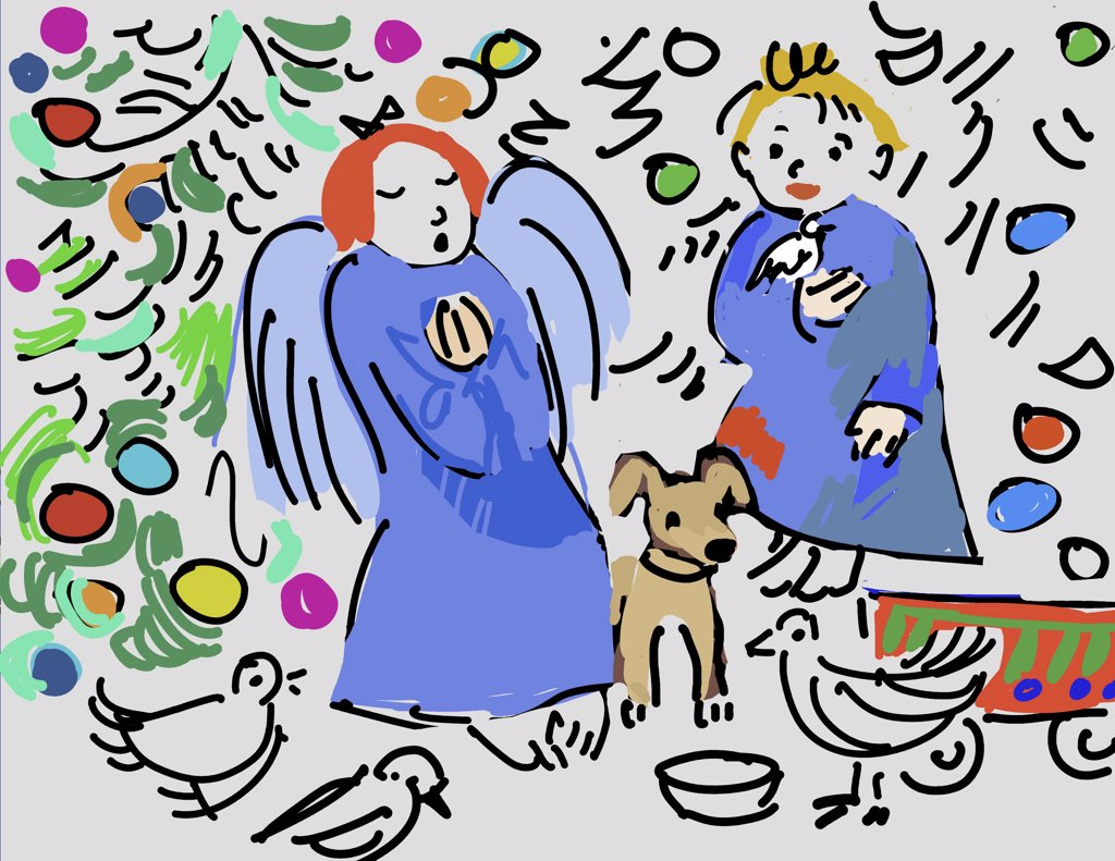 Stock Photo: 456-2053 Christmas morning, 2007, Diana Ong (b.1940/Chinese-American) Computer Graphics