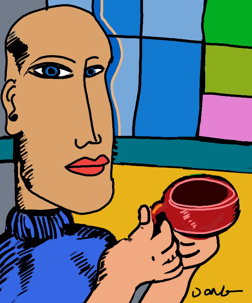 Coffee, by Diana Ong, Computer Graphics, 2010 : Stock Photo