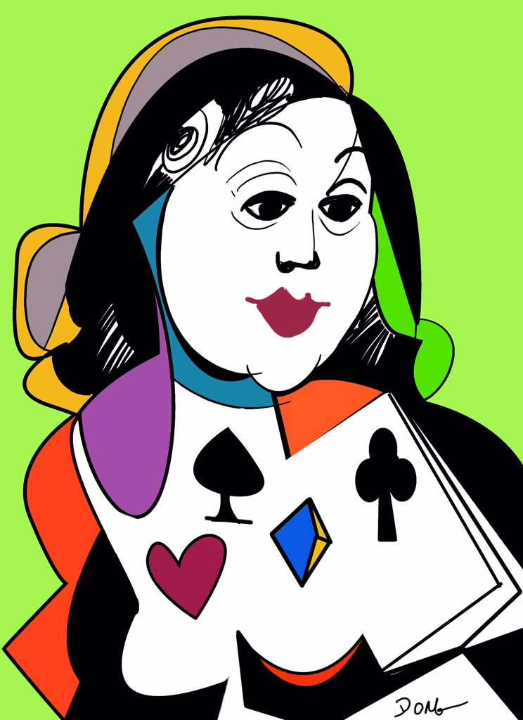 Lady dealer by Diana Ong, Computer Graphics, 2010 : Stock Photo