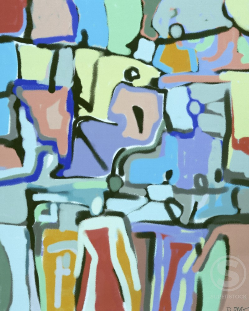 Stock Photo: 456-629 Abstract Crowd 