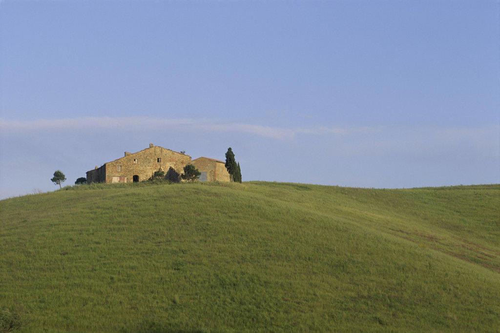 Sienese Hillside Tuscany Italy : Stock Photo