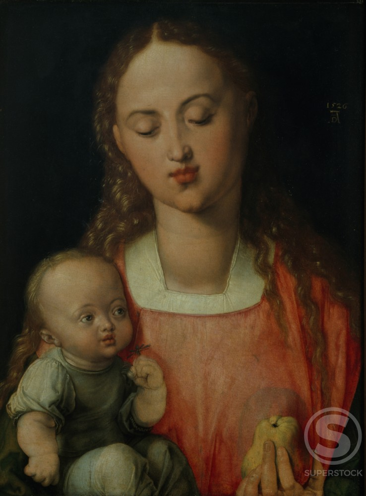 Stock Photo: 457-2085 Madonna of the Pear 