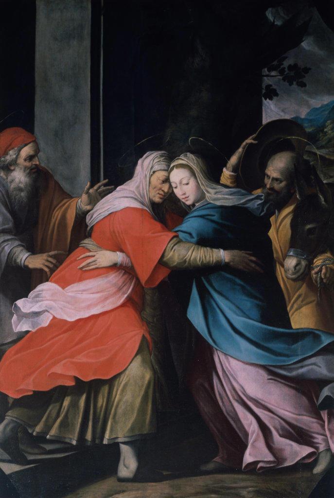 The Visitation Camillo Procaccini (ca.1555-1629 Italian) Oil on canvas Pinacoteca di Brera, Milan, Italy : Stock Photo