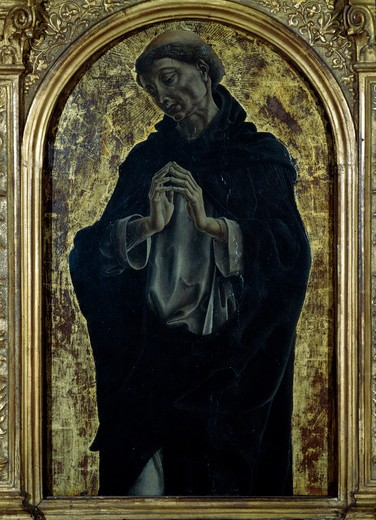 Stock Photo: 457-2102 Saint Domenic by Cosme Ture, 1430-1495, Italy, Florence, Galleria degli Uffizi