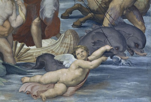 Stock Photo: 457-2112 Cherub Detail III - From the Birth of Galatea
