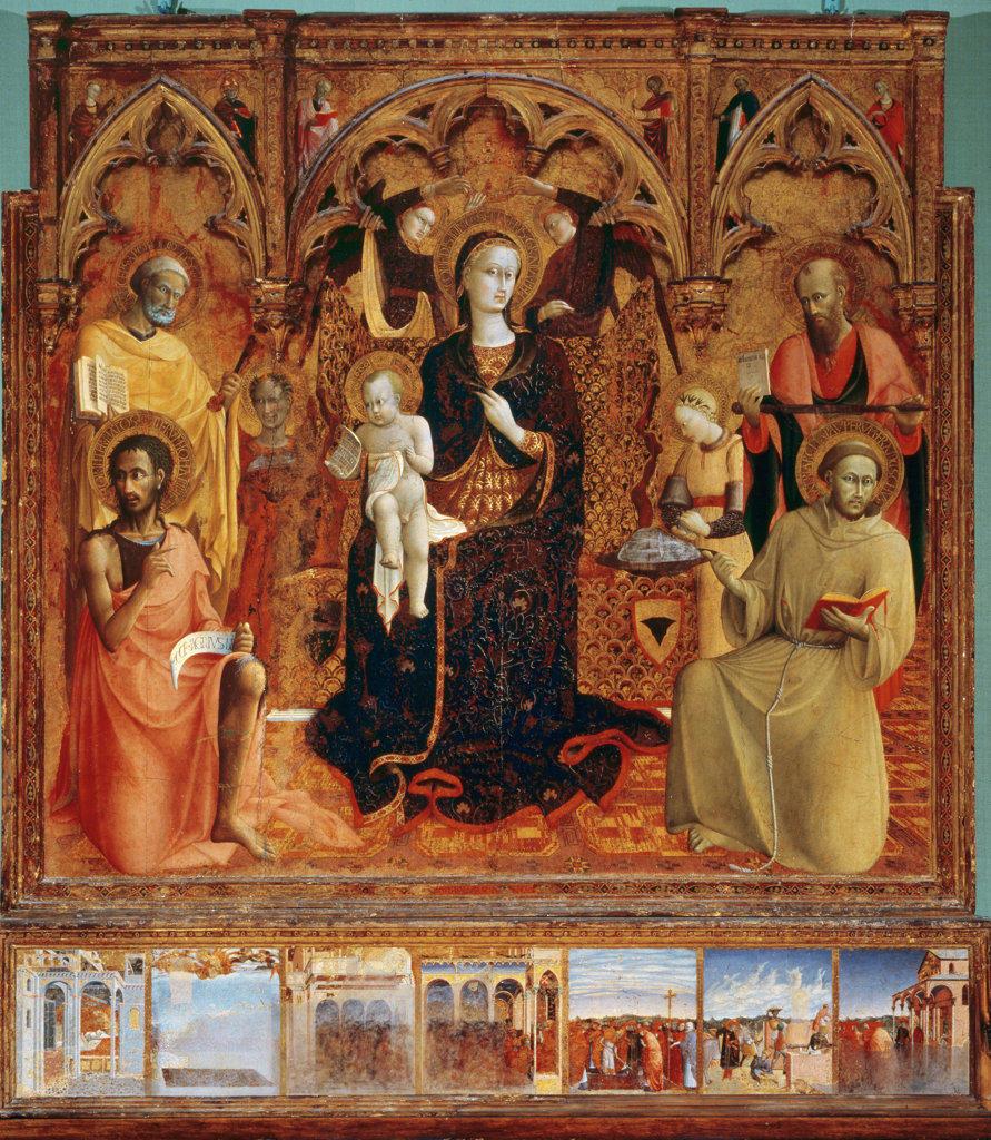 Stock Photo: 457-218 Madonna della Neve by Sassetta,  1430-32,  (1394-1450),  Italy,  Florence,  Palazzo Pitti