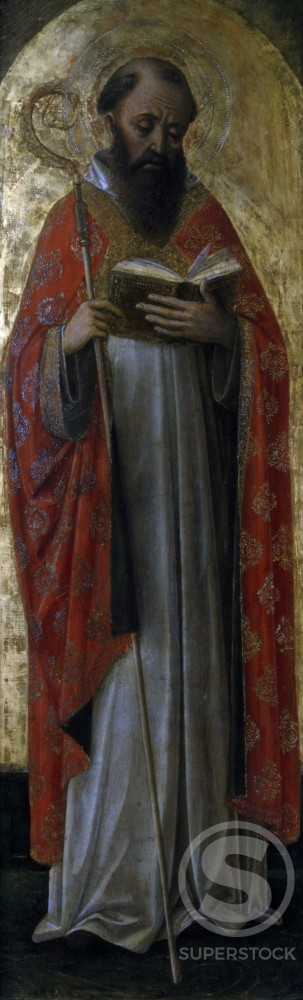 Saint Theodore by Vincenzo Foppa (ca. 1427- ca. 1515/Italian) Tempera on Wood,  (circa1427- circa 1515),  Italy,  Milan,  Castello Sforzesco,  Pinacoteca Civica : Stock Photo