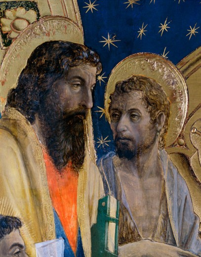 Bottigella Altarpiece-Detail of Saints
