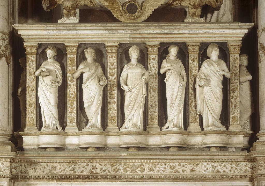 Monumento Al Doge Andrea Vendramin Tullio Lombardo (1455-1532 Italian) Stone San Giovanni e Paolo, Venice, Italy : Stock Photo