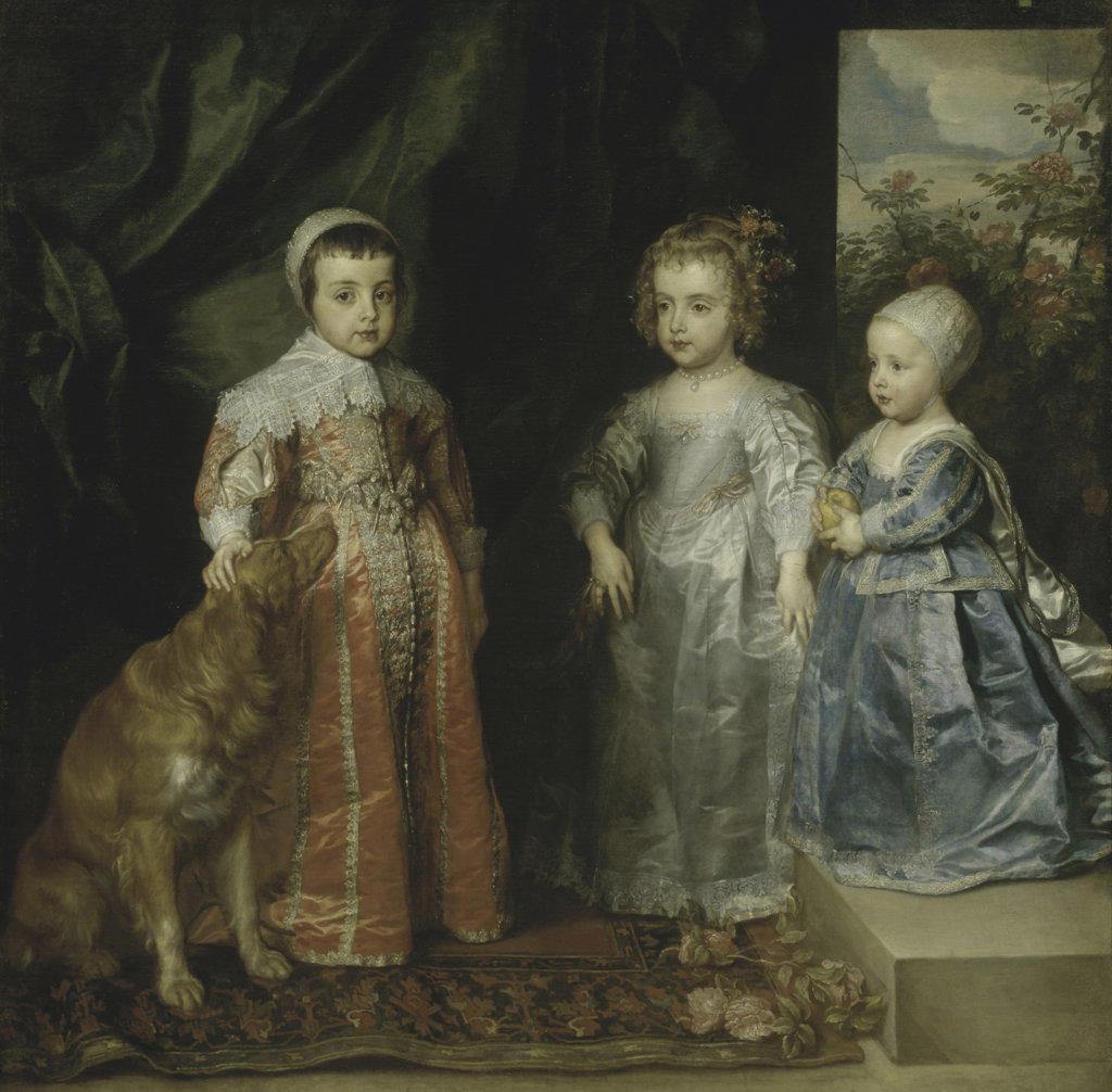 Stock Photo: 457-2240 The Children Of Charles I Of England  Sir Anthony van Dyck (1599-1641/Flemish) Oil on canvas Pinacoteca Sabauda, Torino, Italy