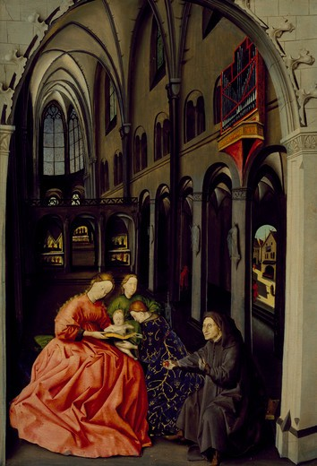 Italy, Napoli, Cathedral of Napoli, Sacred Conversation in the Cathedral by Konrad Witz, ca.1405-1444/6 : Stock Photo