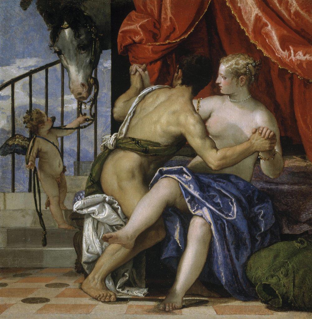 Venus & Mars Paolo Veronese (1528-1588) Italian Pinacoteca Sabauda Torino, Italy   : Stock Photo