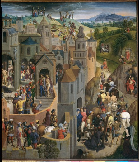 Stock Photo: 457-2257 Passion of Christ (Detail, Right Side)