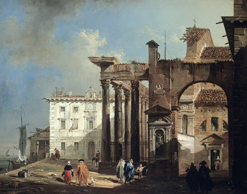 Stock Photo: 457-2260 Pillars Of San Lorenzo In Milan Giovanni Migliara (1785-1837 Italian) Oil On Canvas Pinacoteca Sabauda, Torino, Italy