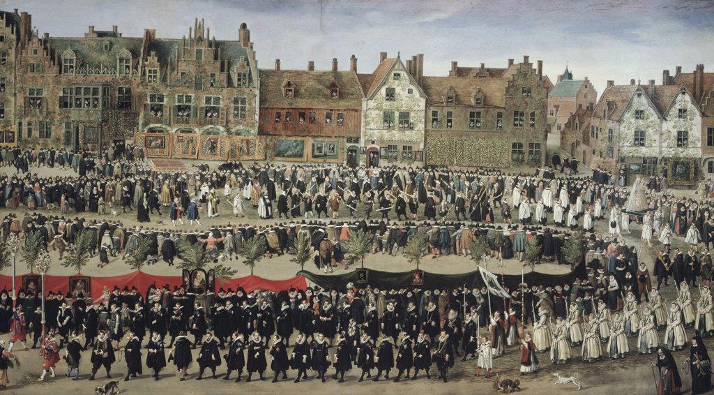 Stock Photo: 457-2264 Processione Di Fanciulla Del Sablon A Bruxelles Anthonis Sallaert (ca.1590-1658 Flemish) Oil On Canvas Pinacoteca Sabauda, Torino, Italy