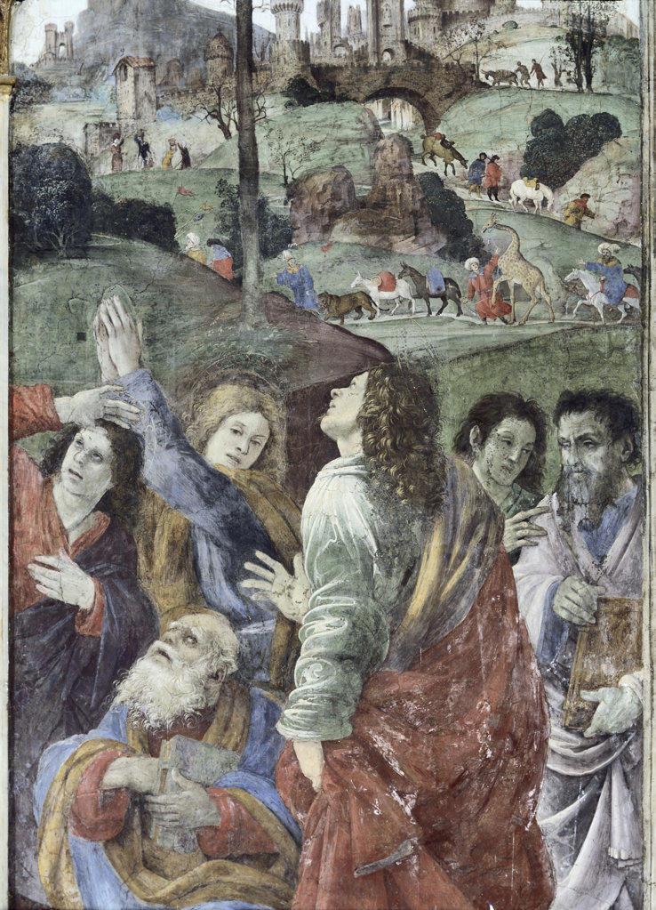 Stock Photo: 457-2322 Assumption & Annunciation (Detail)  Lippi, Filippino(1457/8-1504 Italian) Fresco Santa Maria Sopra Minerva, Rome, Italy