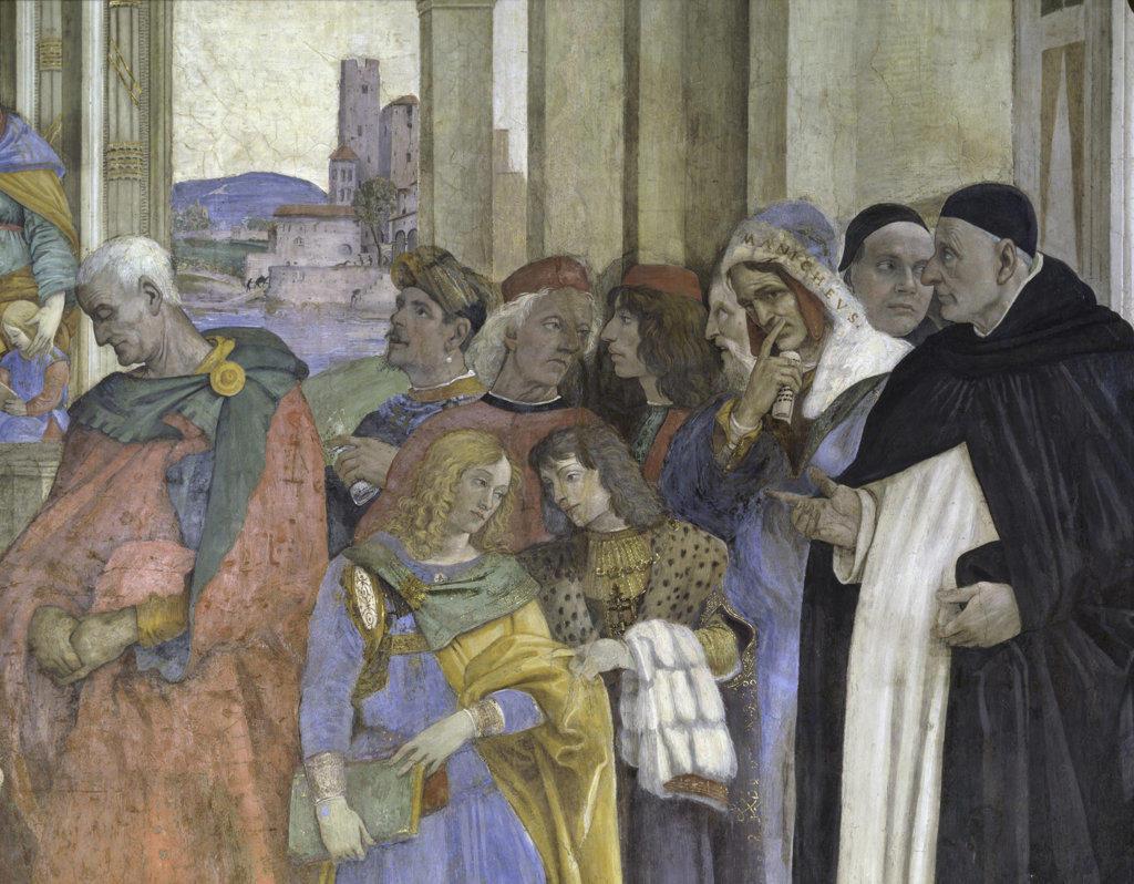 Triumph of Saint Thomas Aquinas Over the Heretics (Detail) Filippino Lippi (1457 8-1504 Italian) Fresco Santa Maria Sopra Minerva, Rome : Stock Photo