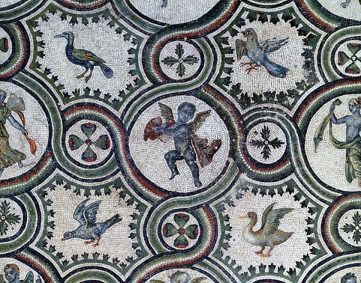 Stock Photo: 457-2341 Birds & Putti