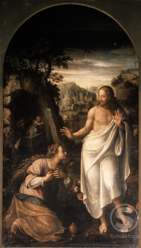 Stock Photo: 457-248 Noli Me Tangere F. Galizzia (Italian) Pinacoteca di Brera, Milan, Italy