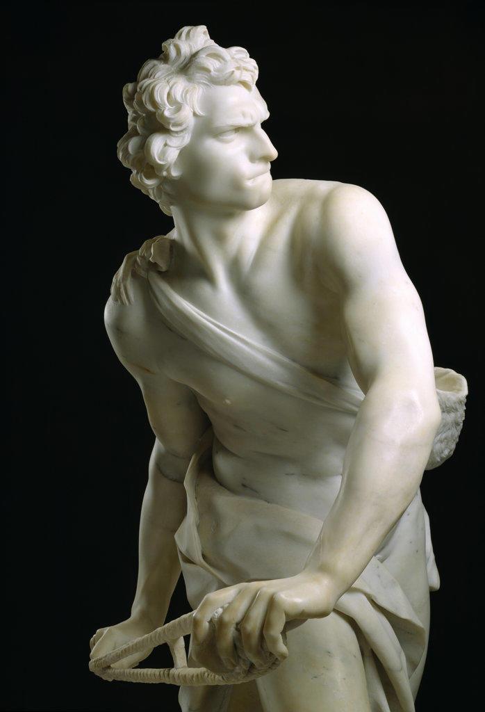 Stock Photo: 457-2506 David dett busto Gian Lorenzo Bernini (1598-1680 Italian) Pinacoteca Sabauda, Torino, Italy