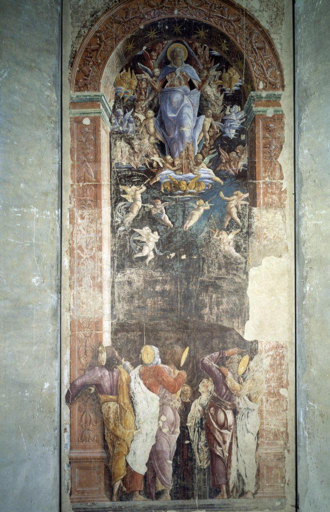 Italy, Padua, Eremitani Church, Ovetari Chapel, Assumption by Andrea Mantegna, 1431-1506 : Stock Photo