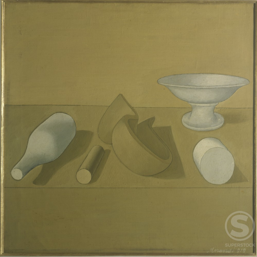 Stock Photo: 457-404 Still Life by Giorgio Morandi, Milan, oil on canvas, 1890-1964, Italy, Milan, Pinacoteca di Brera