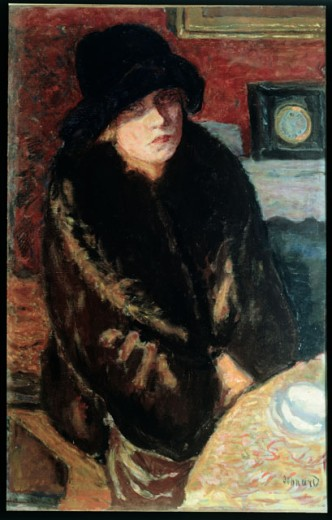 Portrait of a Woman by Pierre Bonnard, 1867-1947, Italy, Milan, Pinacoteca di Brera : Stock Photo