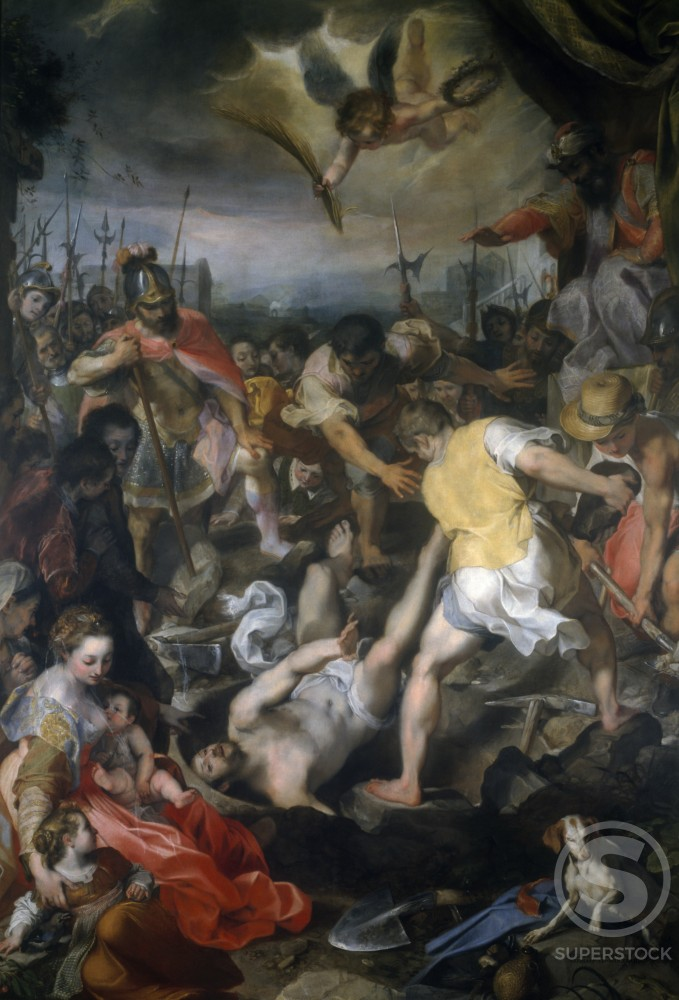 Stock Photo: 457-524 Martyrdom of Saint Vitalis by Frederico Barocci,  oil on canvas,  1583,  Italy,  Milan,  Pinacoteca di Brera