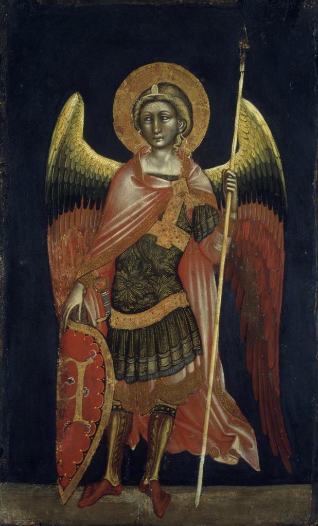 Stock Photo: 457-605 Angel by Guariento di Arpo, tempera on board, 1354, 1338-1378, Italy, Padua, Civic Museum