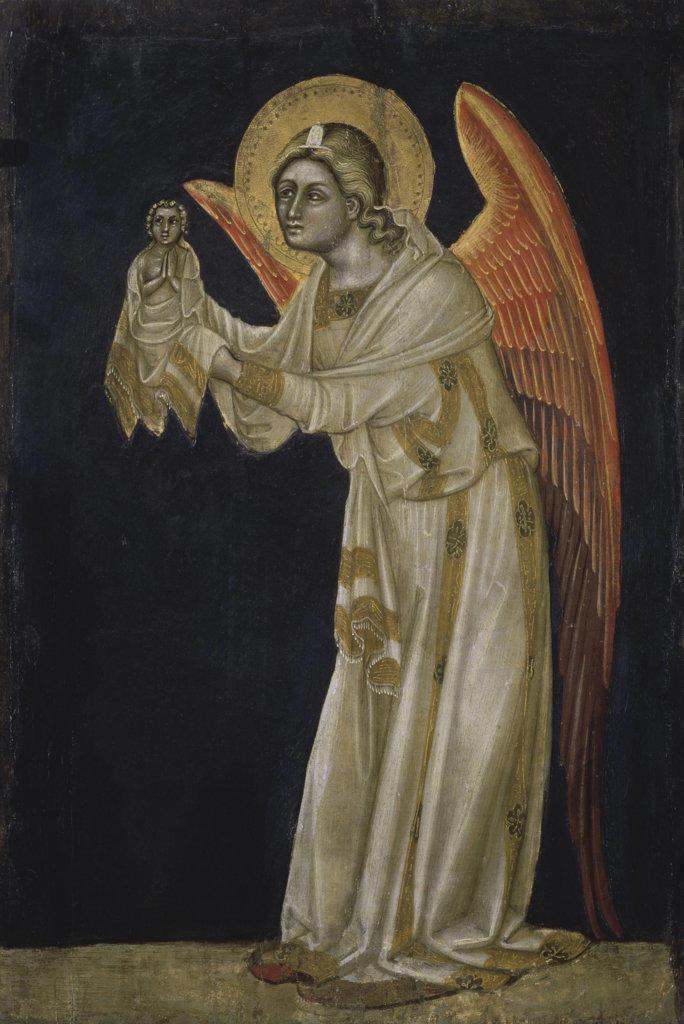 Angel  1354 Guariento di Arpo (ca.1338-1378/Italian) Tempera on board Civic Museum, Padua, Italy : Stock Photo